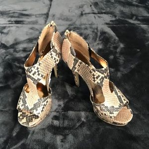Nine West snake heels